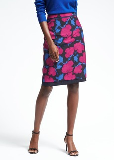Banana Republic Floral Midi Pencil Skirt