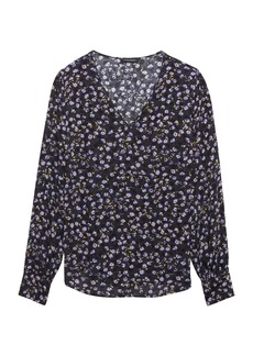 Banana Republic Floral Peek-a-boo Sleeve Top