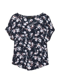 Banana Republic Floral Picot-Trim Top