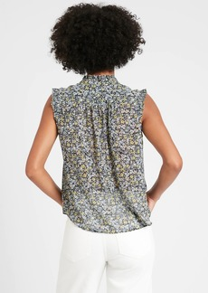 Banana Republic Floral Pleated Shirt