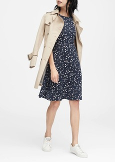 Banana Republic Floral Racerback Fit-and-Flare Dress