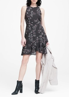 Banana Republic Floral Ruffle Wrap Racerback Dress