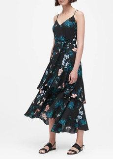 Banana Republic Floral Ruffled Maxi Dress