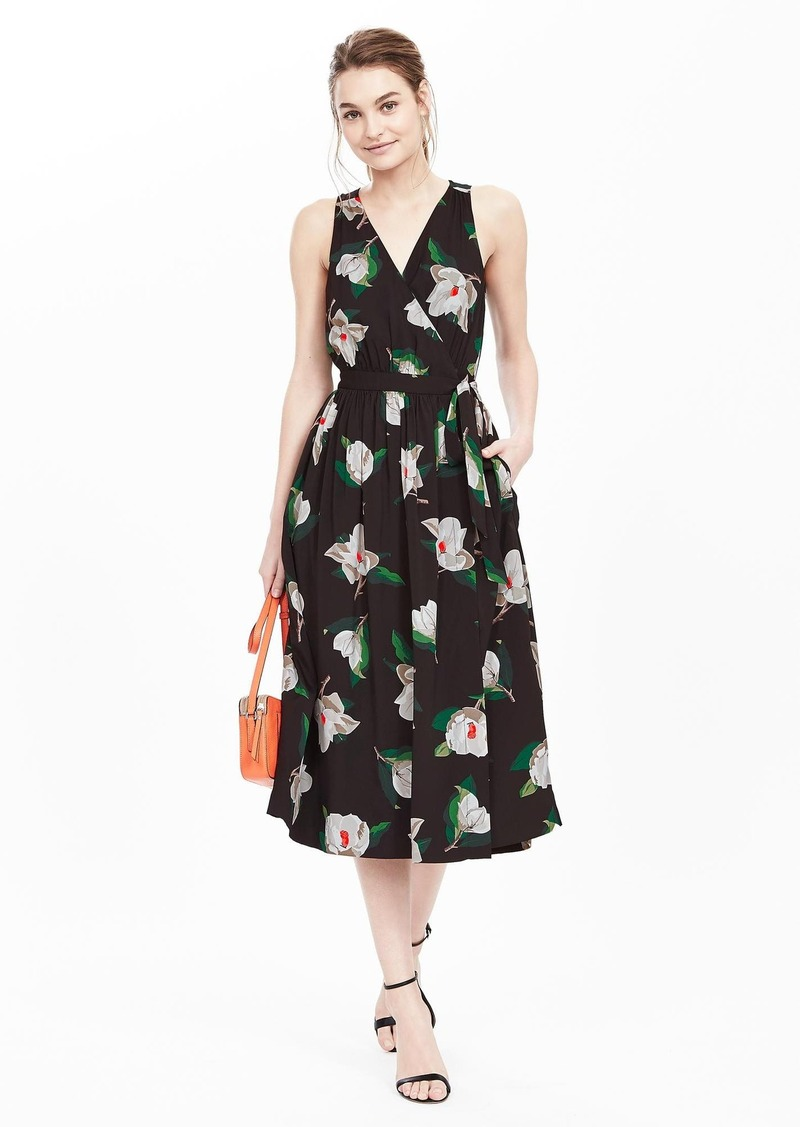 Banana Republic Floral Sleeveless Midi Dress
