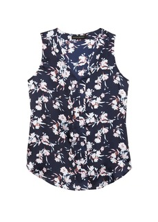 Banana Republic Floral Sleeveless V-Neck Top