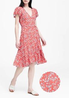 898d5cb9f9c58 Banana Republic Floral Soft Ponte Wrap Dress | Dresses