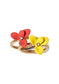 Banana Republic Floral Stacking Rings