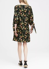 Banana Republic Floral Tie-Sleeve Shift Dress