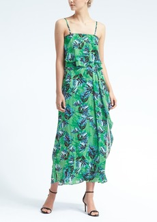 Floral Tiered Flounce Maxi Dress