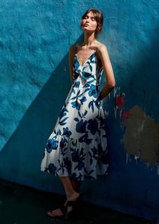 Banana Republic Floral Twist-Front Midi Dress