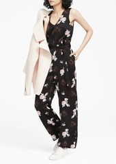 Banana Republic Floral V-Neck Wide-Leg Jumpsuit