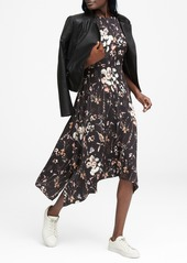 Banana Republic Floral Washable Stretch Silk Midi Dress