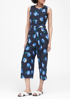Banana Republic Floral Wide-Leg Cropped Jumpsuit