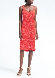 Floral Wide-Strap Slip Dress