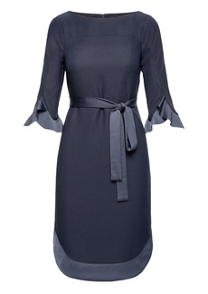 Banana Republic Flounce Sleeve Tie-Waist Dress