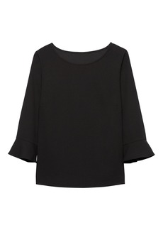 Banana Republic Flounce-Sleeve Top