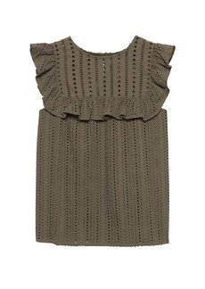 Banana Republic Eyelet Ruffle Top