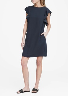 Banana Republic Flutter-Sleeve Shift Dress