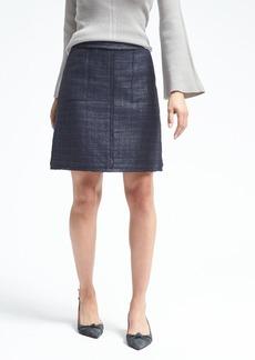 Banana Republic Frayed-Edge Tweed Skirt