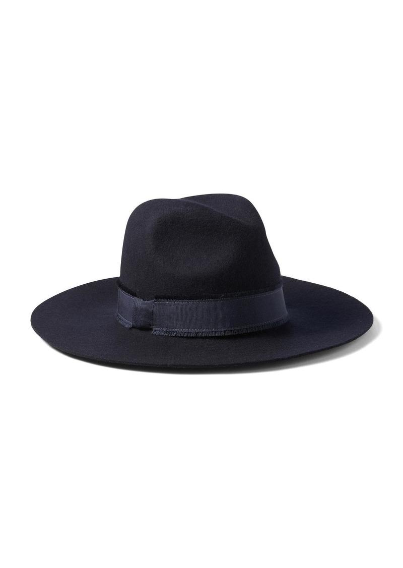 fdc6acda0a65d Banana Republic Frayed-Ribbon High-Crown Fedora Hat