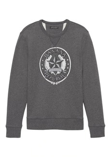 Banana Republic French Terry Archival Logo Sweatshirt