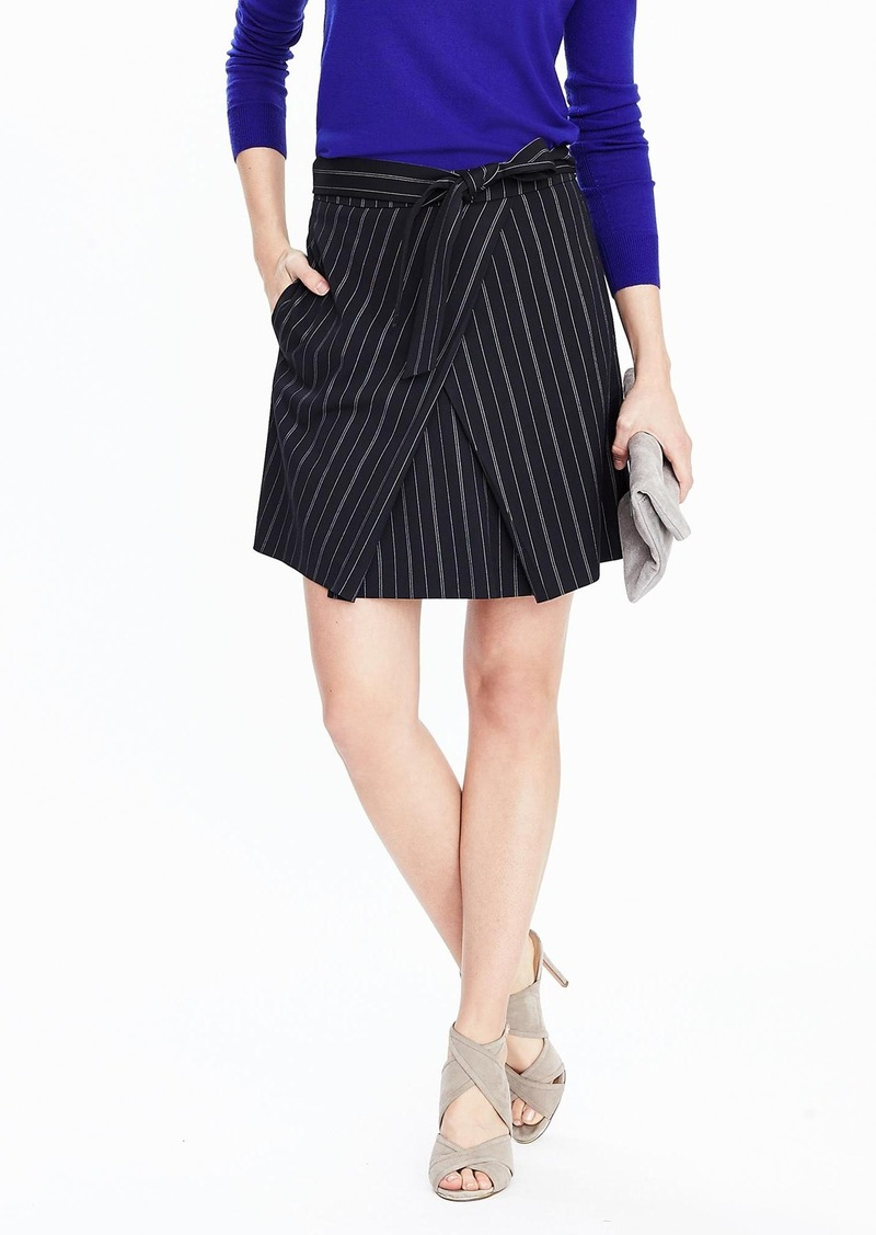 81134100e6 Banana Republic Front-Tie Pinstripe Skirt | Skirts