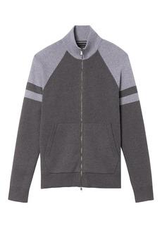 Banana Republic Full-Zip Block Stripe Sweater Jacket with COOLMAX® Technology