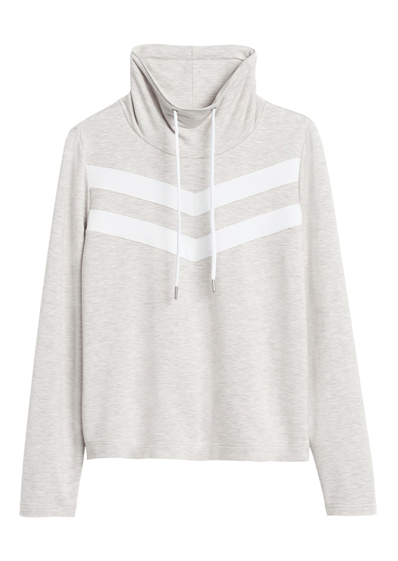 Banana Republic Funnel-Neck Fleece Sweatshirt