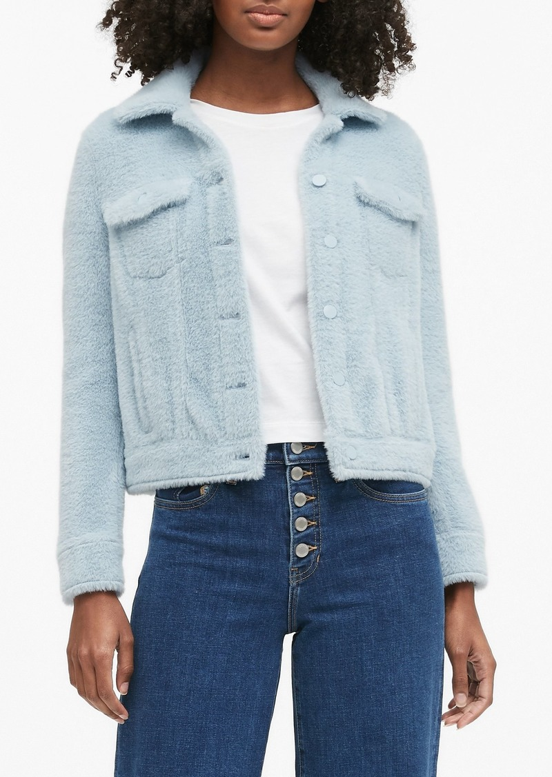 Banana Republic Fuzzy Trucker Jacket