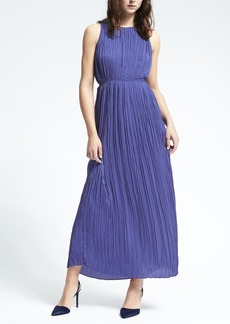 Gathered Pleat Maxi Dress