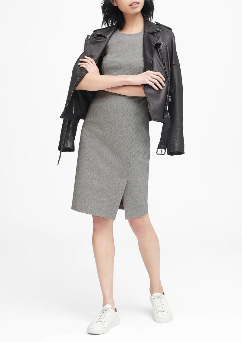 Banana Republic Gingham Bi-Stretch Sheath Dress
