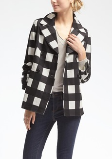 Gingham Double-Breasted Jacket