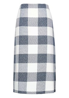 Banana Republic Gingham Pencil Skirt with Side Slit