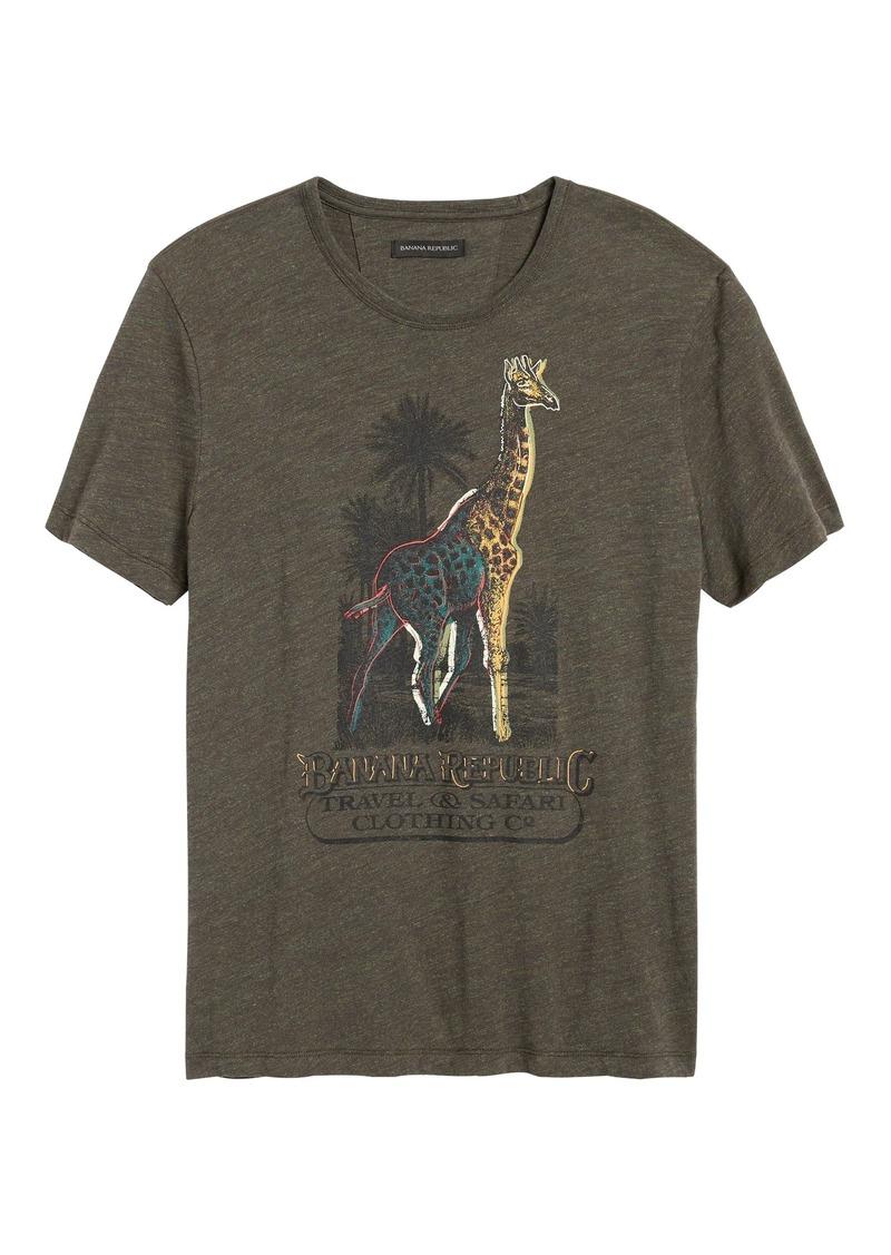 Banana Republic Giraffe Graphic T-Shirt