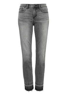 Banana Republic Girlfriend Cropped Black-Wash Jean with Fray Hem