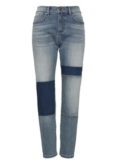 Banana Republic Girlfriend Cropped Patchwork Jean