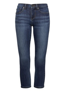 Girlfriend Dark Wash Cropped Jean