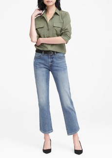 Banana Republic Girlfriend Medium Wash Jean
