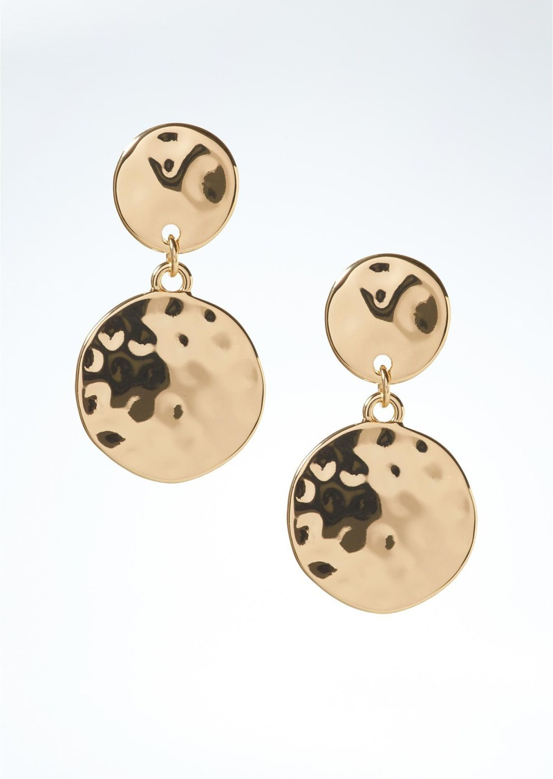 Banana Republic Gold Coin Drop Earrings