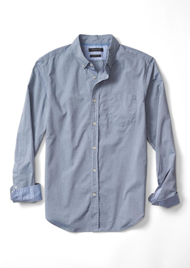 Banana Republic Grant-Fit Custom Wash Texture Dobby Shirt