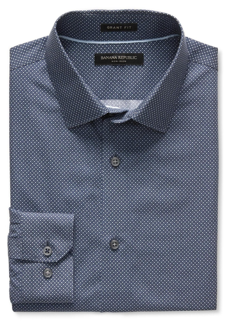 Banana Republic Grant-Fit Multi-Dot Non-Iron Shirt