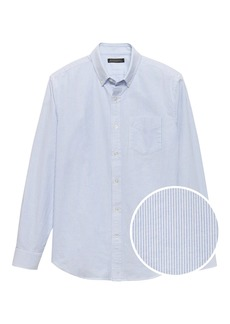 Banana Republic Grant Slim-Fit 100% Cotton Stripe Oxford Shirt
