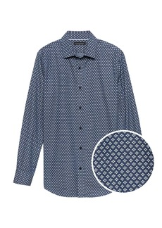 Banana Republic Grant Slim-Fit Chambray Print Shirt