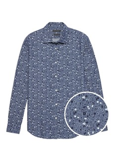 Banana Republic Grant Slim-Fit Floral Chambray Shirt