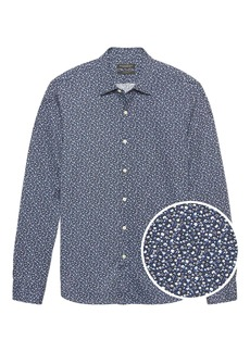 Banana Republic Grant Slim-Fit Floral Performance Knit Shirt