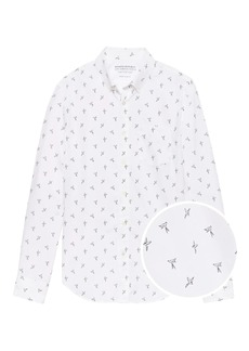 Banana Republic Grant Slim-Fit Luxe Poplin Bird Print Shirt