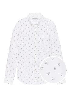 Banana Republic Grant Slim-Fit Luxe Poplin Bird Print Shirt