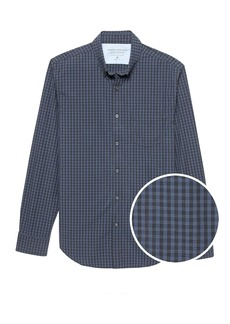 Banana Republic Slim-Fit Luxe Poplin Grid Shirt