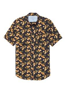 Banana Republic Grant Slim-Fit Luxe Poplin Lemon Print Shirt