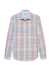 Banana Republic Grant Slim-Fit Luxe Poplin Madras Plaid Shirt